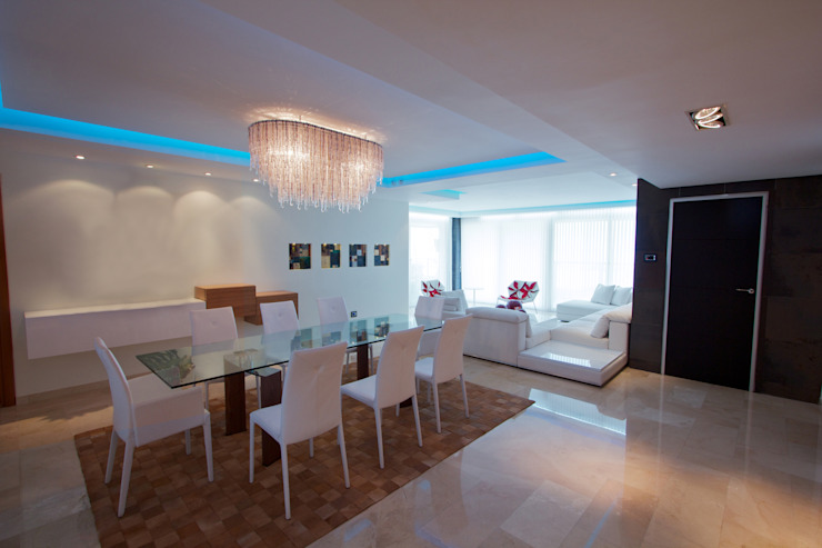 MÓNACO I Modern Dining Room by Design Group Latinamerica Modern