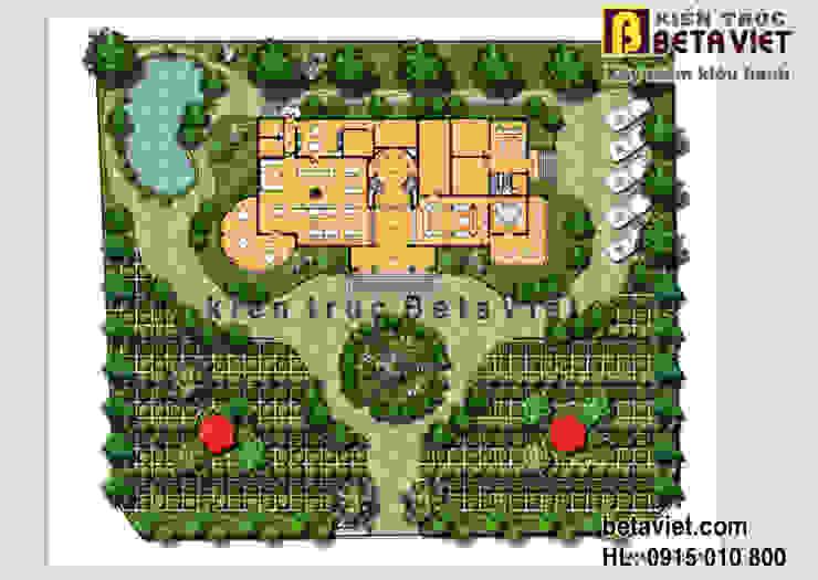 Mặt bằng tổng thể dinh thự - biệt thự đẹp 3 tầng Tân cổ điển châu Âu hoành tráng (CĐT: Ông Hùng - Ninh Bình) BT13367 bởi Công Ty CP Kiến Trúc và Xây Dựng Betaviet