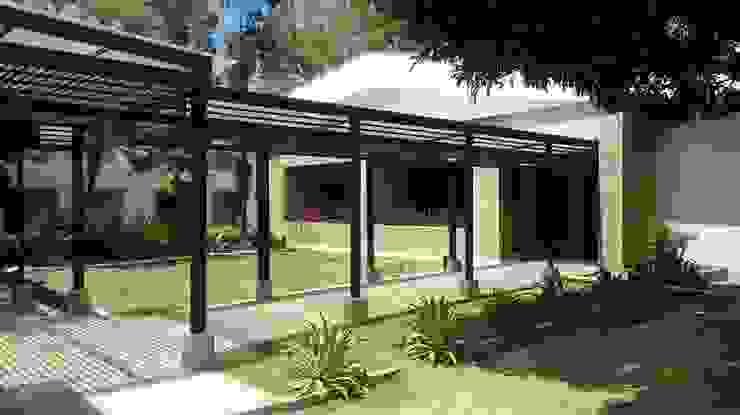 PERGOLA Casas modernas de arquitectura sostenible colombia Moderno Hierro/Acero