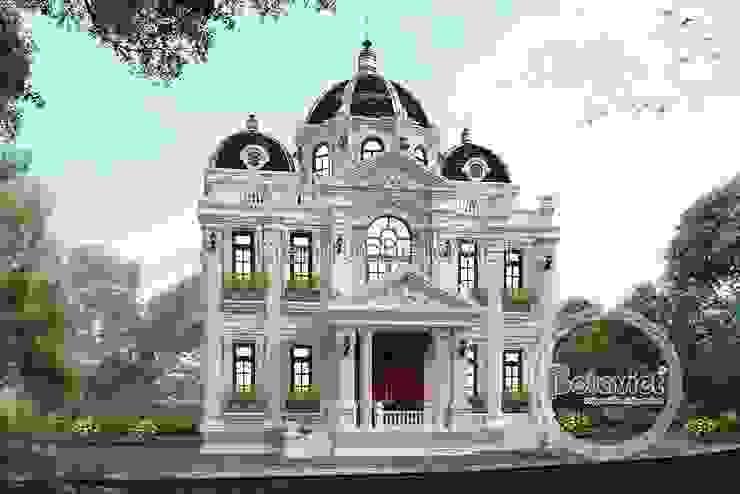Phối cảnh thiết kệ dinh thự - biệt thự đẹp 3 tầng Cổ điển Pháp (CĐT: Ông Phú - Hà Nội) KT16462 bởi Công Ty CP Kiến Trúc và Xây Dựng Betaviet