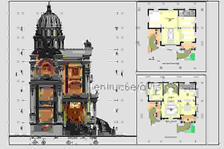 Mặt bằng tầng 2 mẫu lâu đài kiểu Pháp 3 tầng đẹp lung linh siêu hoành tráng (CĐT: Ông Vĩ - Bắc Ninh) BT16023 bởi Công Ty CP Kiến Trúc và Xây Dựng Betaviet
