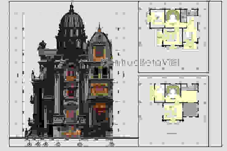 Mặt bằng tầng 1 mẫu lâu đài kiểu Pháp 3 tầng đẹp lung linh siêu hoành tráng (CĐT: Ông Vĩ - Bắc Ninh) BT16023 bởi Công Ty CP Kiến Trúc và Xây Dựng Betaviet