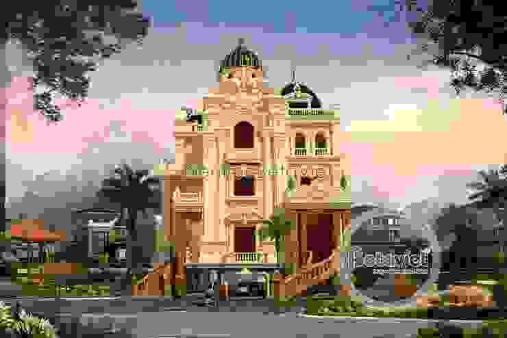 Phối cảnh mẫu lâu đài kiểu Pháp 3 tầng đẹp lung linh siêu hoành tráng (CĐT: Ông Vĩ - Bắc Ninh) BT16023 bởi Công Ty CP Kiến Trúc và Xây Dựng Betaviet