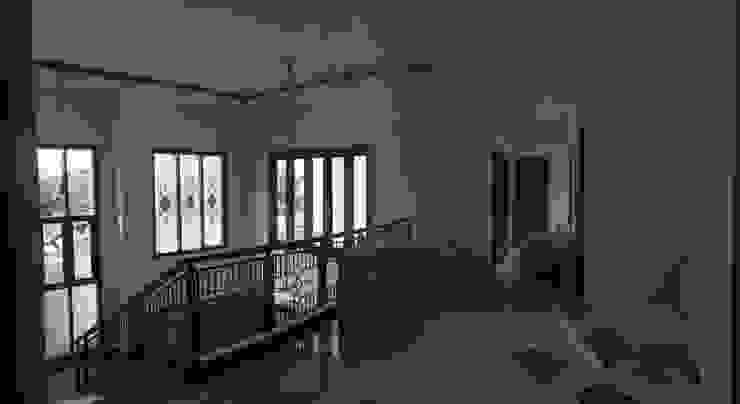 Ruang Tengah Ruang Keluarga Modern Oleh Kahuripan Architect Modern Batu Bata