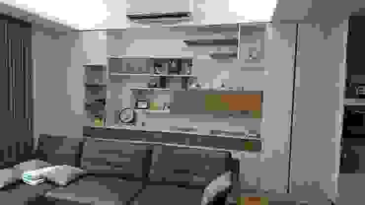 2F客廳沙發背牆 根據 窩居 室內設計裝修 北歐風