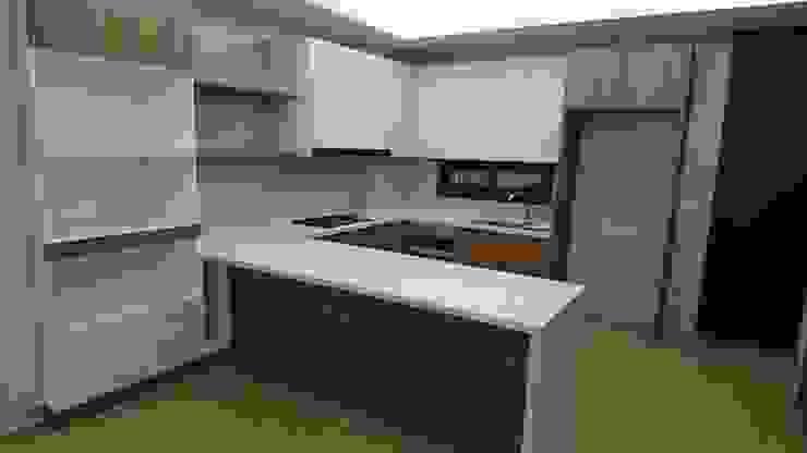 2F開放式ㄇ型廚房 根據 窩居 室內設計裝修 北歐風