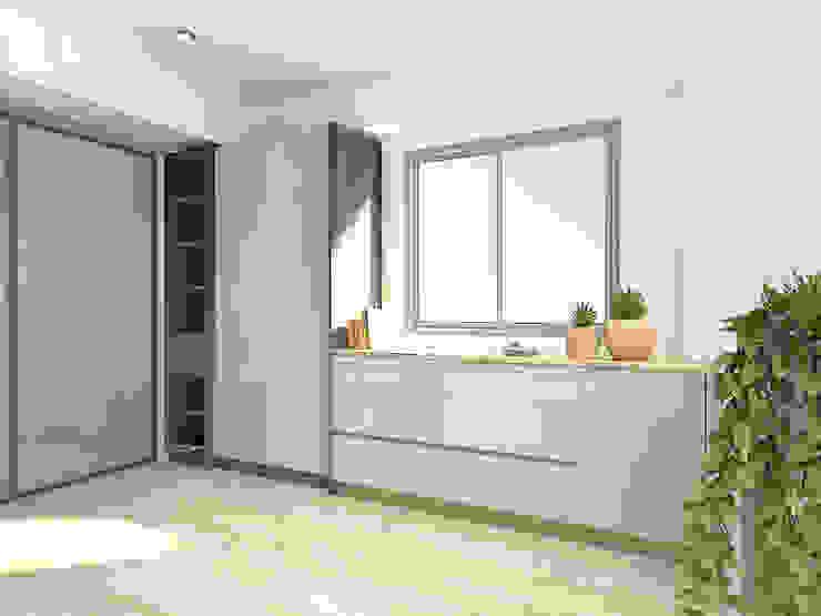 3F更衣室渲染圖 根據 窩居 室內設計裝修