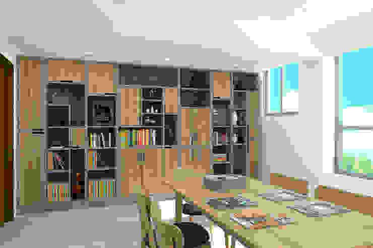 4F書房渲染圖 根據 窩居 室內設計裝修