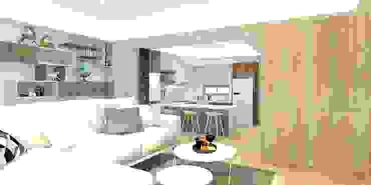 2F客廳渲染圖 根據 窩居 室內設計裝修