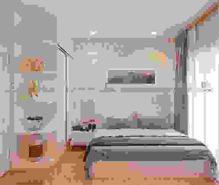 Thiết kế nội thất phòng ngủ master Phòng ngủ phong cách hiện đại bởi homify Hiện đại