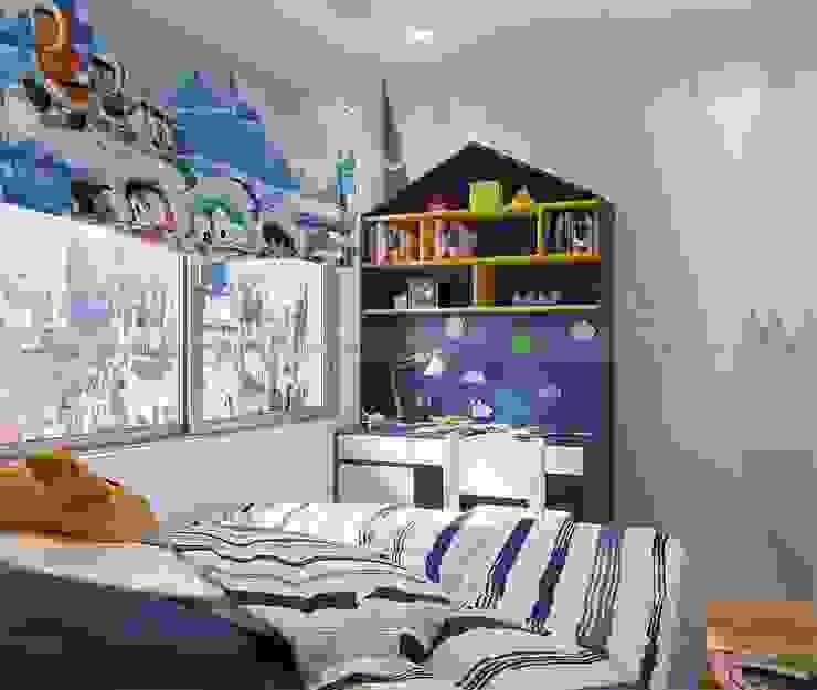 Thiết kế nội thất phòng ngủ trẻ em Phòng trẻ em phong cách hiện đại bởi homify Hiện đại