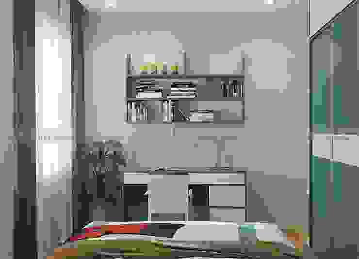 Thiết kế nội thất phòng ngủ Phòng ngủ phong cách hiện đại bởi homify Hiện đại