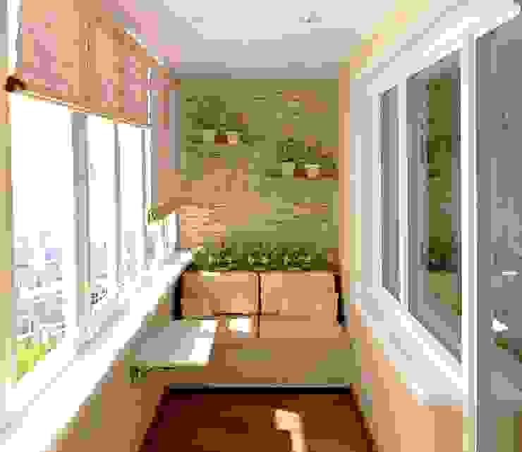 Workz Services LLP Balcone, Veranda & Terrazza in stile moderno