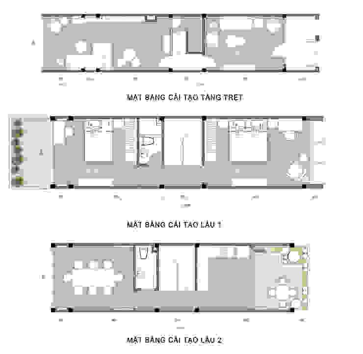 DỰ ÁN THIẾT KẾ THI CÔNG : CẢI TẠO NHÀ PHỐ – NHÀ Ở TƯ NHÂN: hiện đại  by Archifix Design, Hiện đại