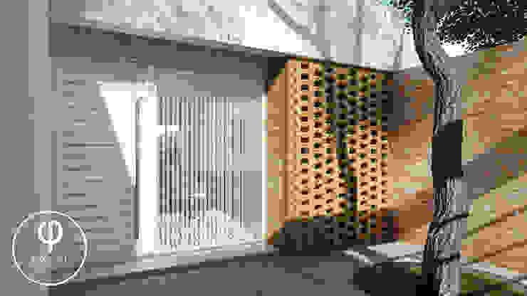 CASA AP Pasillos, halls y escaleras minimalistas de ARBOL Arquitectos Minimalista