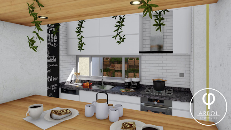CASA AP Cocinas de estilo minimalista de ARBOL Arquitectos Minimalista