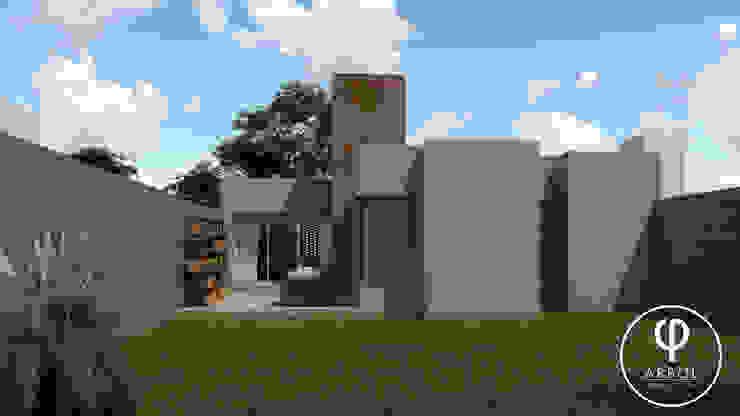 CASA AP Jardines de estilo minimalista de ARBOL Arquitectos Minimalista