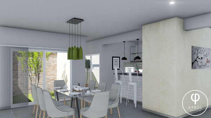 CASA PI. Comedores de estilo minimalista de ARBOL Arquitectos Minimalista