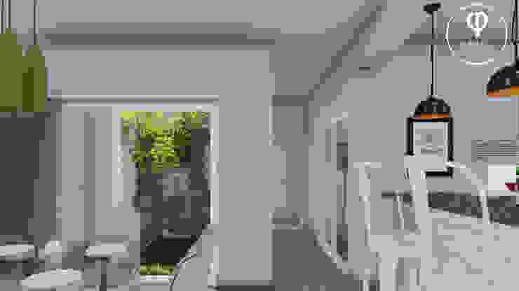 CASA PI. Pasillos, halls y escaleras minimalistas de ARBOL Arquitectos Minimalista