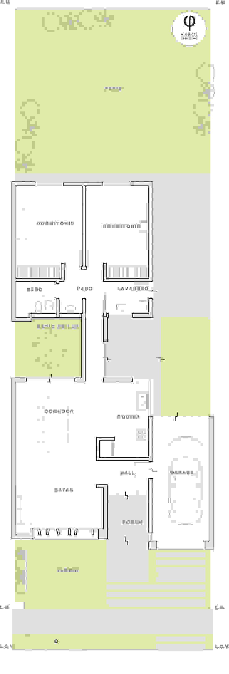 CASA PI. Casas de estilo minimalista de ARBOL Arquitectos Minimalista