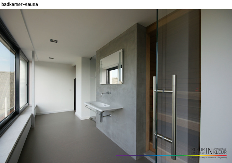 minimalistisch interieur:  Badkamer door KleurInKleur interieur & architectuur,
