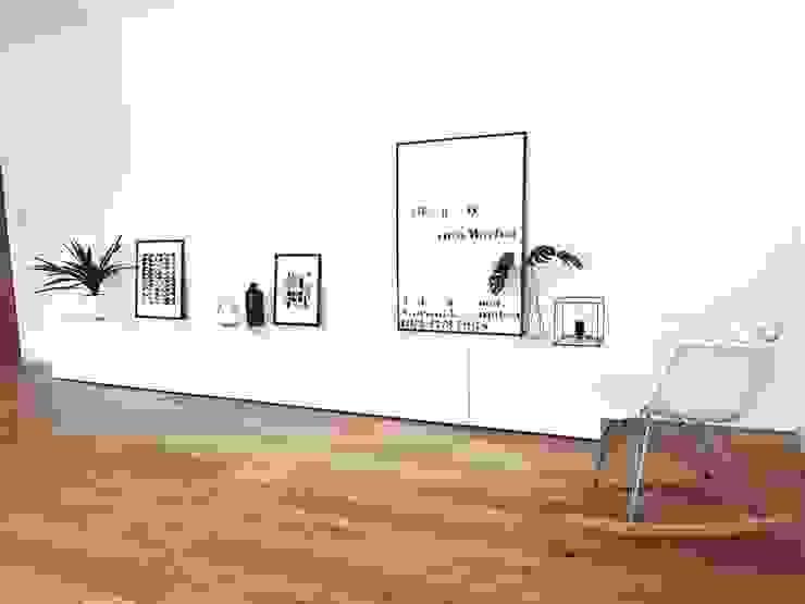 Modern Scandinavian Show Home Гостиная в скандинавском стиле от THE FRESH INTERIOR COMPANY Скандинавский Дерево Эффект древесины