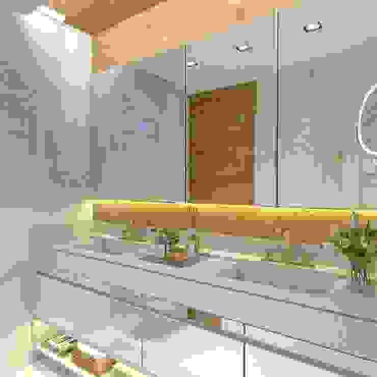 Banho casal Banheiros modernos por Letícia Saldanha Arquitetura Moderno