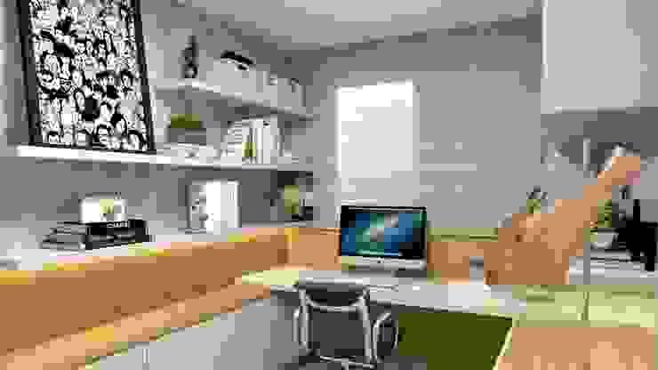 Letícia Saldanha Arquitetura Modern study/office