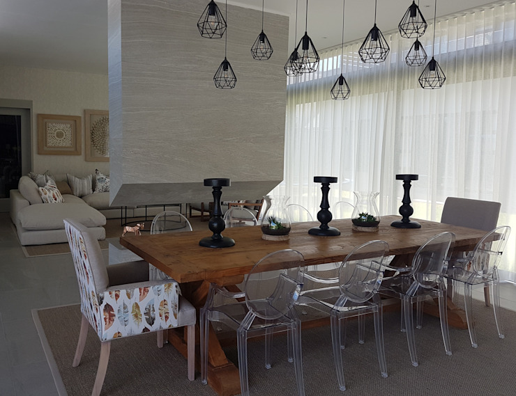 Copper & Grey Tones Modern dining room by Sophistique Interiors Modern