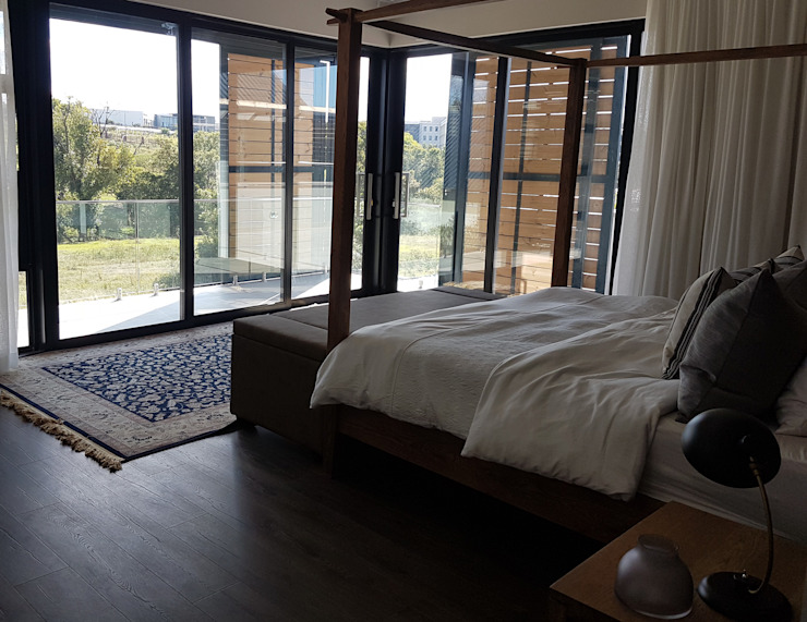 Copper & Grey Tones Modern style bedroom by Sophistique Interiors Modern