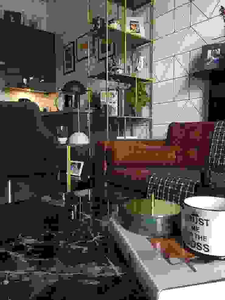 Belsize Park Flat Moderne Wohnzimmer von Orkun İndere Interiors Modern Silber/Gold