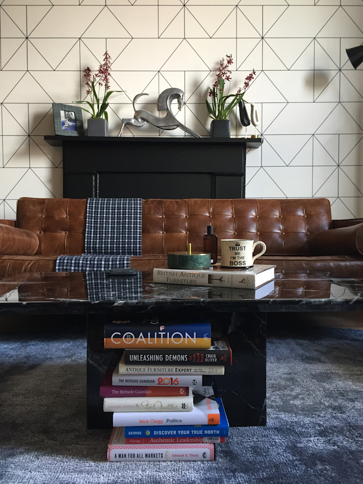 Belsize Park Flat Moderne Wohnzimmer von Orkun İndere Interiors Modern Marmor