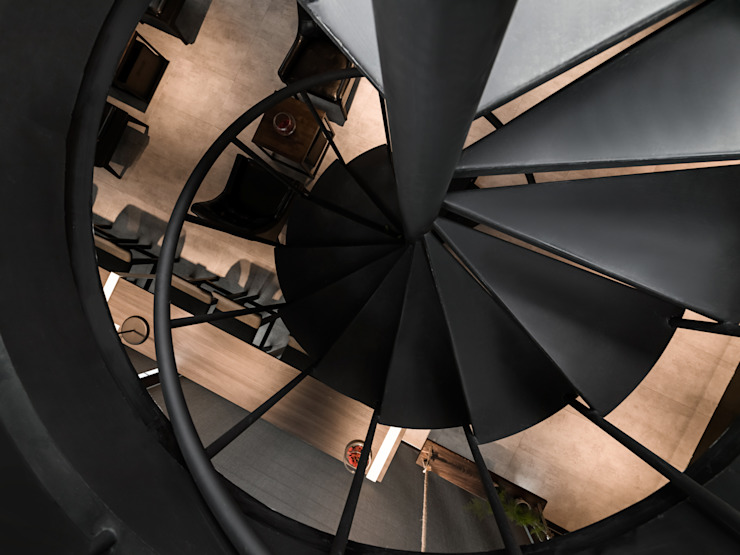 旋轉樓梯 根據 存果空間設計有限公司 現代風