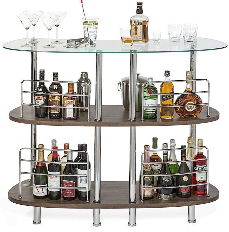 WINSOME MARTINI ENTERTAINMENT BAR: modern  by Perfect Home Bars, Modern Glass