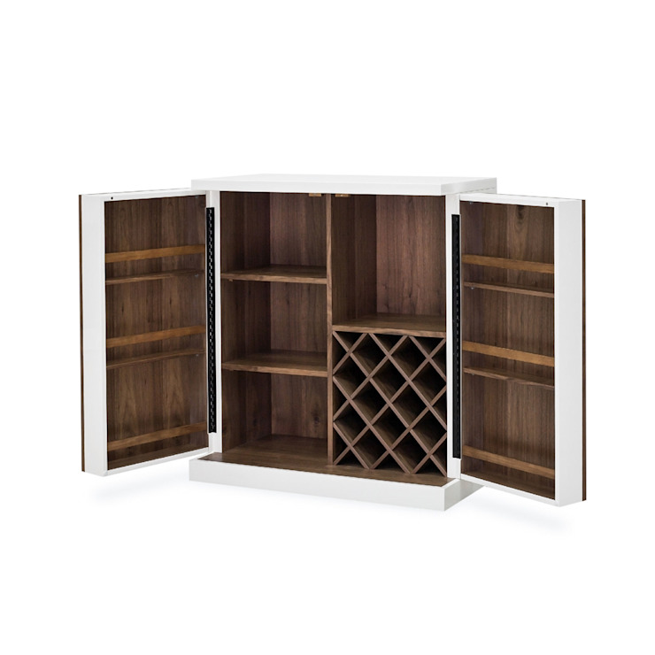 FOUR HANDS TUCKER BAR CABINET: modern  by Perfect Home Bars, Modern Wood Wood effect