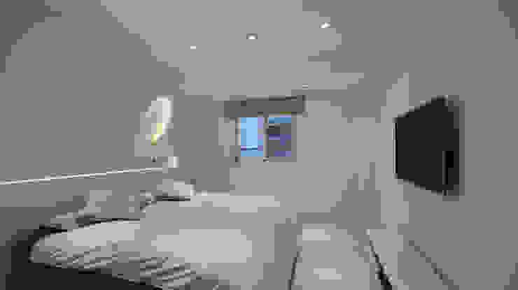 """皚皚""""森""""活 现代客厅設計點子、靈感 & 圖片 根據 瓦悅設計有限公司 現代風"""