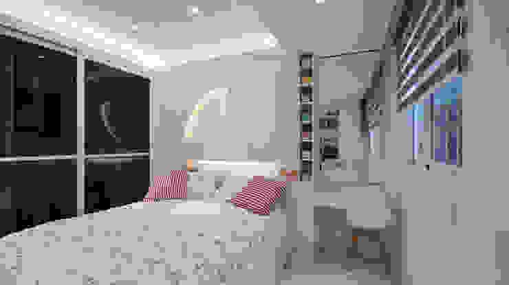 Chambre de style  par 瓦悅設計有限公司