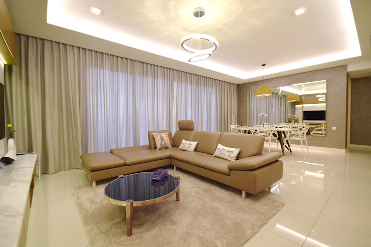 homify Living room Beige
