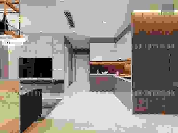 Nội thất Châu Âu hiện đại trong căn hộ Vinhomes Central Park Nhà bếp phong cách hiện đại bởi ICON INTERIOR Hiện đại