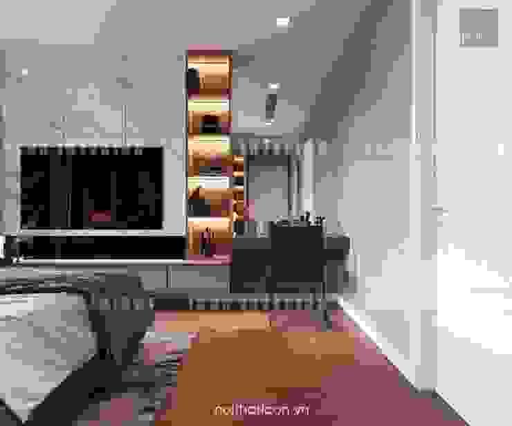 Nội thất Châu Âu hiện đại trong căn hộ Vinhomes Central Park Phòng ngủ phong cách hiện đại bởi ICON INTERIOR Hiện đại