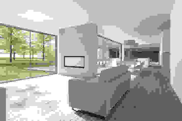 SCHUURWONING | Nieuwerkerk aan den Ijssel Moderne woonkamers van JADE architecten Modern