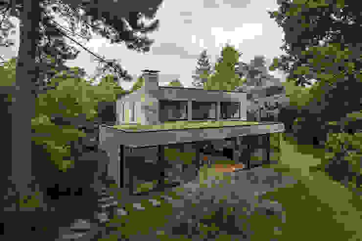 Parkvilla | Voorschoten van JADE architecten Modern Steen