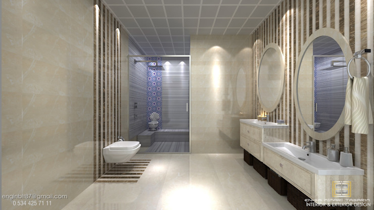 örnek daire Klasik Banyo EN+SA MİMARİ TASARIM Klasik