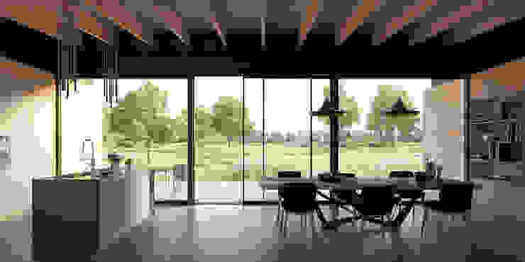 uitzicht tuinkamer Landelijke eetkamers van STAAG architecten Landelijk Hout Hout