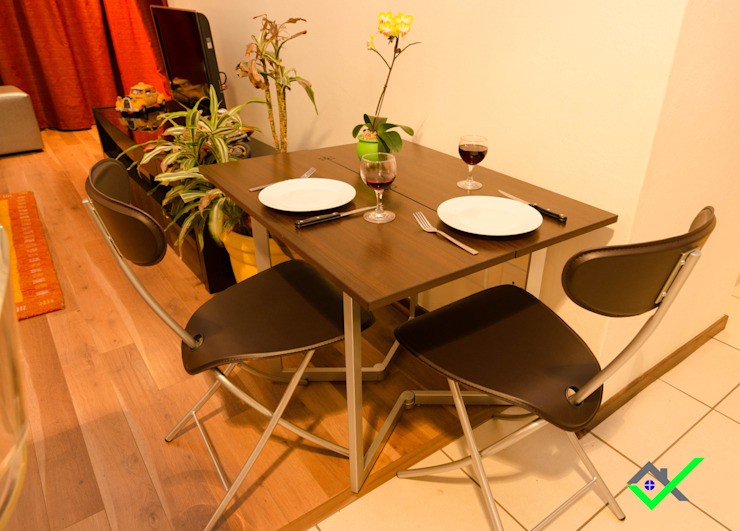 dining table for 2 to 4 people: modern  by Space Transformers, Modern