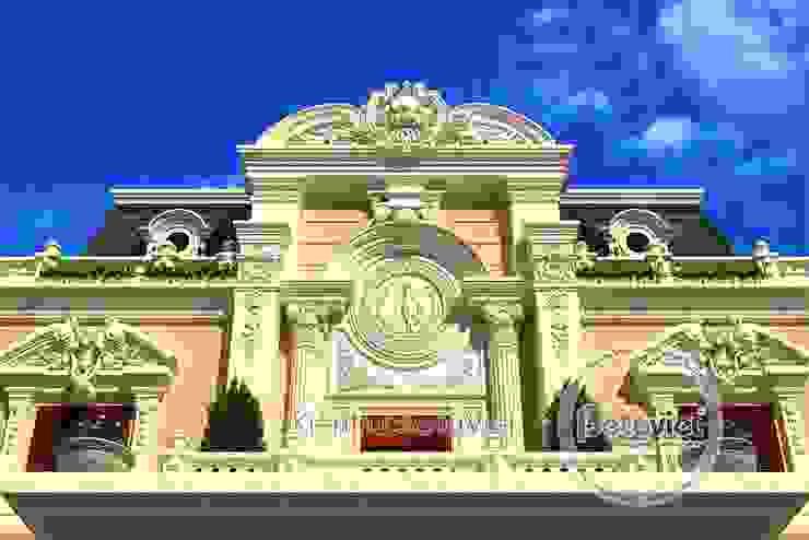 Phối cảnh mẫu thiết kế biệt thự 3 tầng Cổ điển hoành tráng (CĐT: Ông Toán - Thanh Hóa) BT16025 bởi Công Ty CP Kiến Trúc và Xây Dựng Betaviet