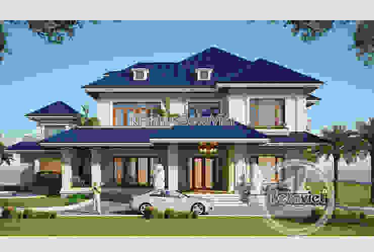 Phối cảnh mẫu thiết kế biệt thự Hiện đại 2 tầng phong cách Á Đông (CĐT: Ông Thắng - Quảng Bình) KT16139 bởi Công Ty CP Kiến Trúc và Xây Dựng Betaviet