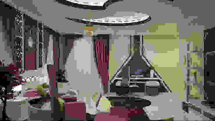 Home Interior Design Ideas Asian style living room by Monnaie Interiors Pvt Ltd Asian