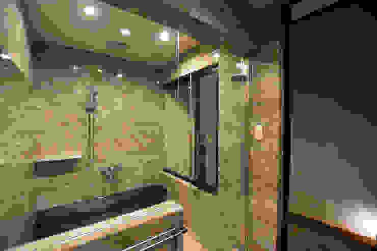 浴室 Style Create モダンスタイルの お風呂 ガラス 灰色