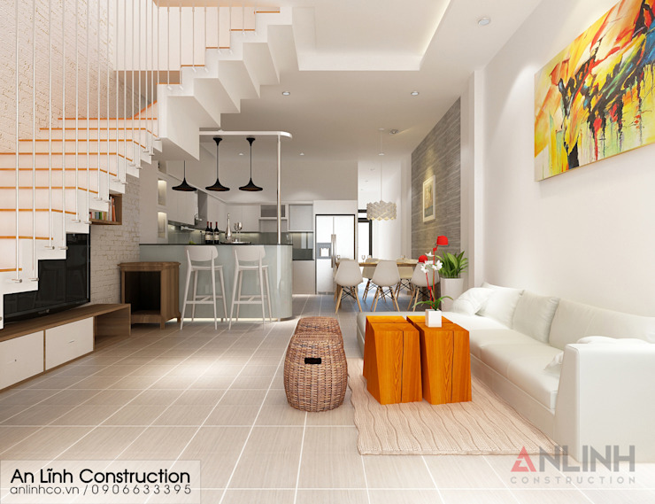 Chuyên thiết kế nhà phố đẹp tại TPHCM bởi CÔNG TY THIẾT KẾ XÂY DỰNG AN LĨNH